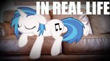 Vinyl scratch sleeping (MLP In real life)