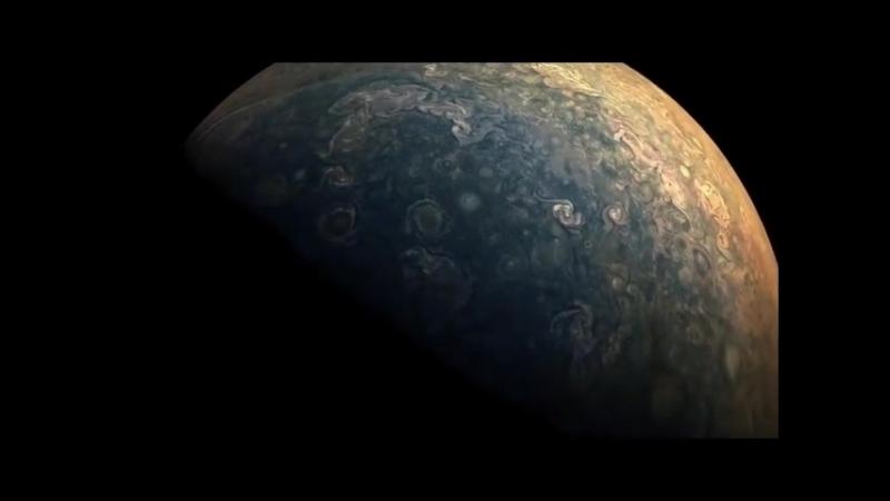 Таймлапс девятого сближения станции Juno Юноны с Юпитером