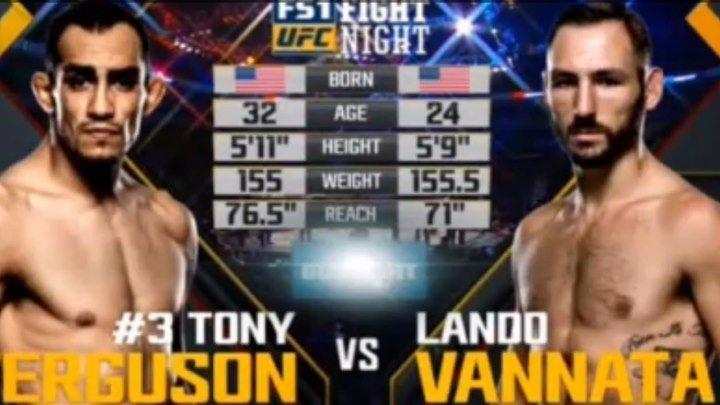 ВИДЕО БОЯ UFC Fight Night 91 Тони Фергюсон vs. Ландо Ванната