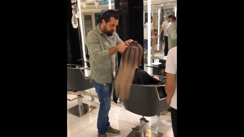 Окрашивание и волосы на липучках