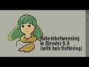 Tutorial Auto-inbetween with fluttering effect in Blender 2.8 grease pencil process