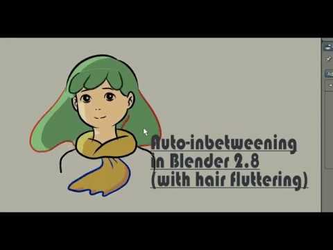 Tutorial Auto inbetween with fluttering effect in Blender 2 8 grease pencil process