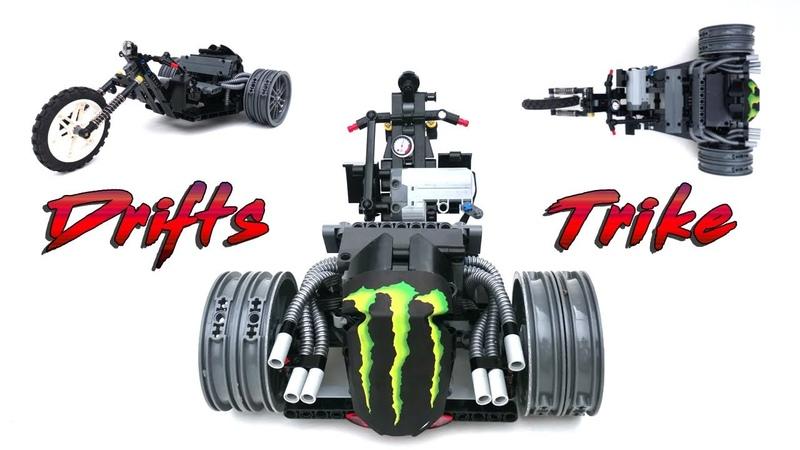 Lego Technic RC Fast Drift Trike - BuWizz V2 - MOC