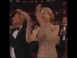 Nicole Kidman trying to clap her Grinch hands...
