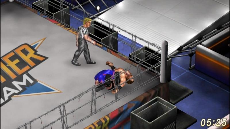 Chris Benoit VS Daniel Bryan. Barbed Wire Deathmatch