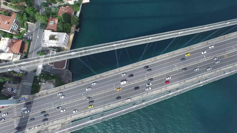 4K Turkey Istanbul Bosporus Bridge Drone View Helicopter Footage Coup FPV RC