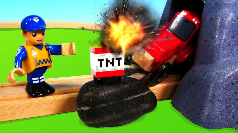 Мультфильм машинки — Игрушки Брио (Brio) — Случай на дороге