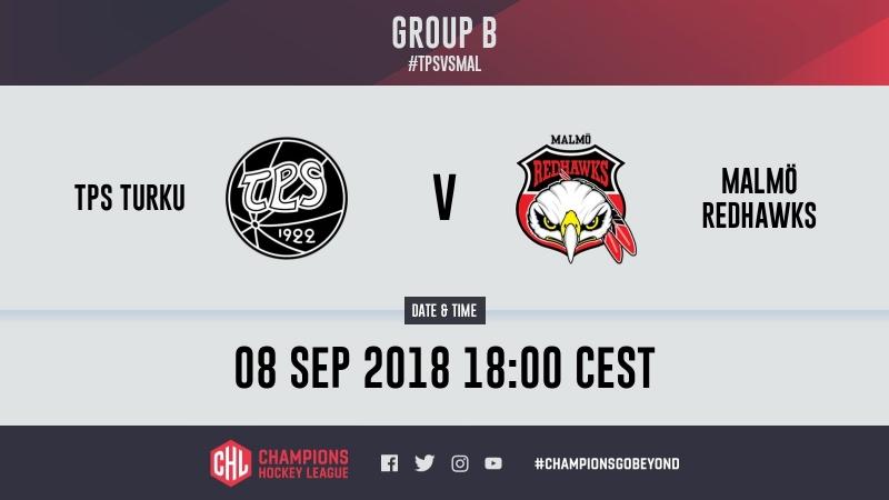 Highlights TPS Turku vs. Malmö Redhawks
