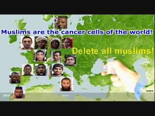 Muslims are the cancer cells of the world! Delete all muslims!