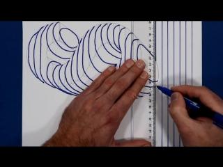 3D Trick Art On Line Paper, Floating Letter S.mp4