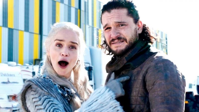 За кадром 8 сезона Игры Престолов с Эмилией Кларк Озвучка Игра Престолов Game Of Thrones фантастика боевик 8 сезон