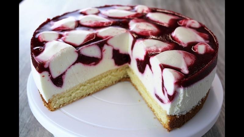 Муссовый Малиновый Торт 🍰 нежнейший йогуртовый торт