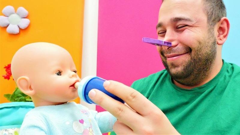 Bebek bakma oyunu. Kadir Merte bakabilecek mi Baby Born oyuncakları