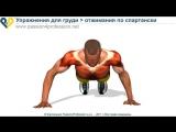Упражнения для мышц груди - отжимания по спартански