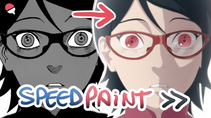 Sarada Uchiha -manga to anime style- [Speed painting]