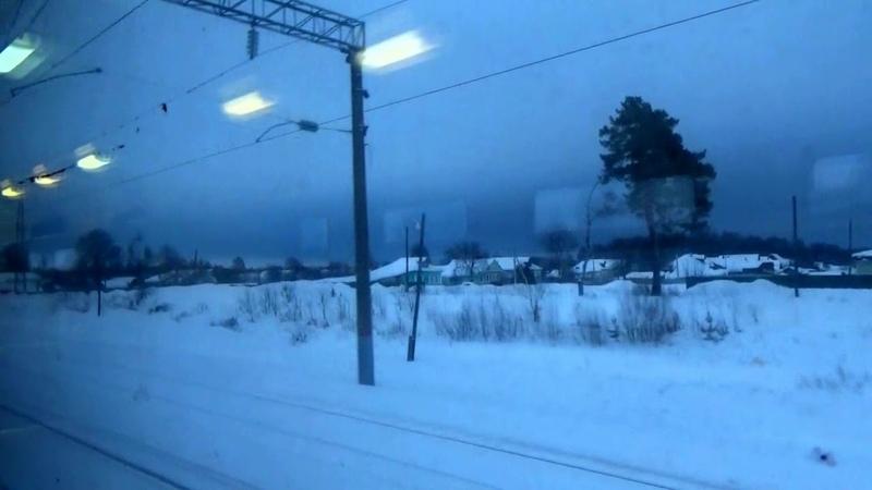 Прибытие на станцию Гороховец на пригородном ЭД9М-1026 Ковров-Н.Новгород