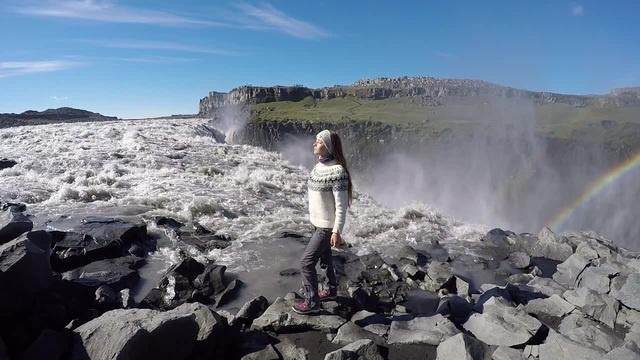 фильм Прометей film Prometheus На краю водопада Деттифосс Dettifoss Исландия Iceland · coub коуб