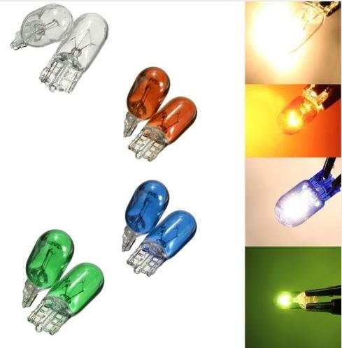 Разноцветные галогенки Т10