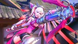 OVERWATCH New Pink Mercy Skin (Support Breast Cancer)