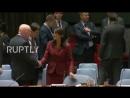 UN_ US, Russian UN envoys shake hands prior to UNSC meeting