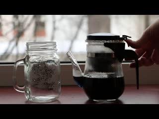 Синий чай из орхидей