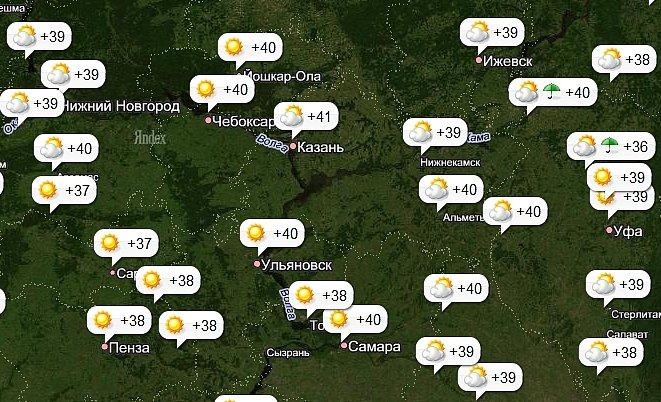 Прогнозы погоды на июль в сургуте