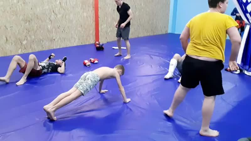 Тренировка по ММА в завршении занятия - ОФП (23.01.19)