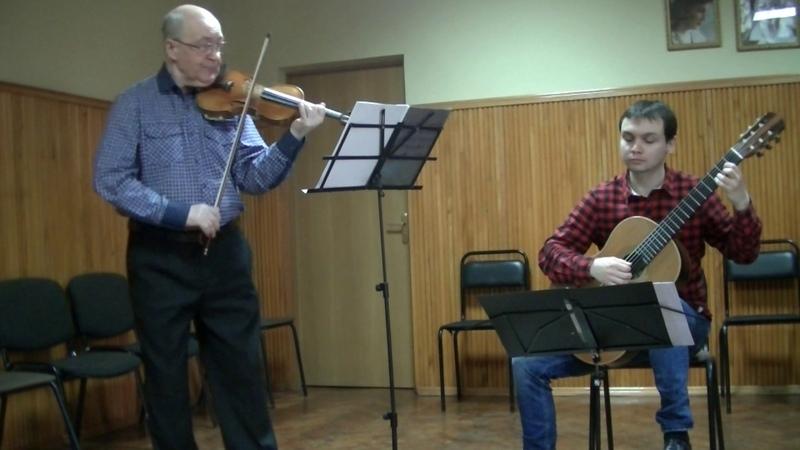 Н.Паганини соната I оп. 2а для скрипки и гитары.