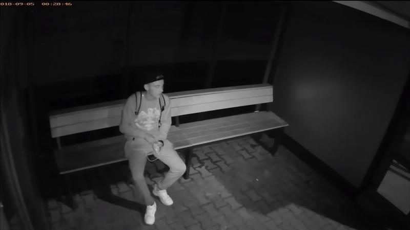 Камера видеонаблюдения остановки Технический университет Брест Насвинячил шелухой от семечек