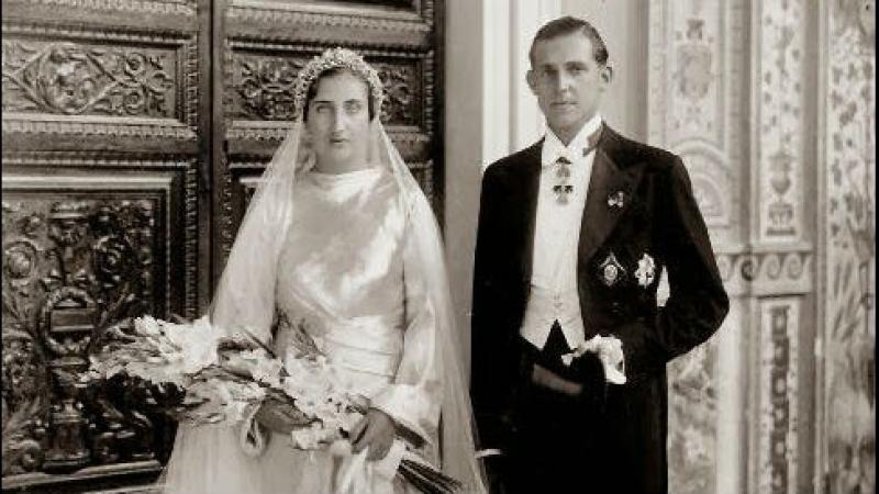 Свадьба графа Барселонского Хуана и Принцессы Марии Бурбон-Сицилийской, 12 октября 1935 г.