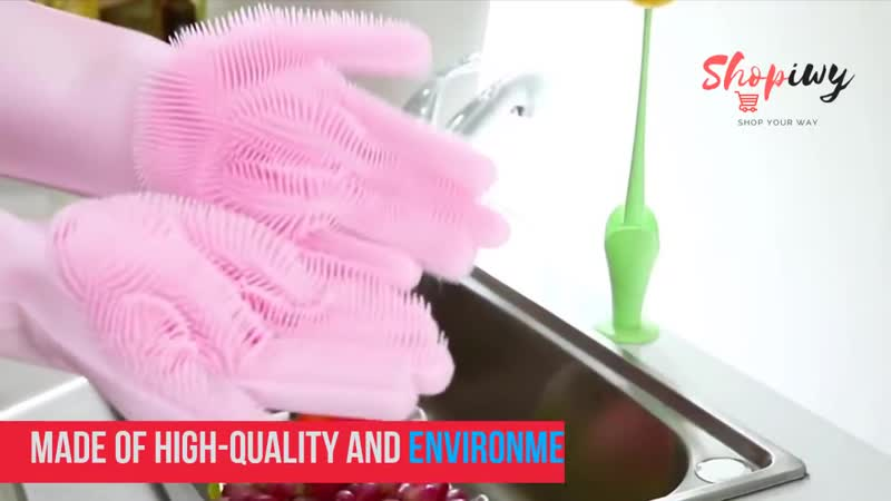 Magic Silicone Rubber Dish Washing Gloves