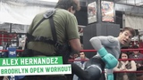 Alex Hernandez shows off his striking during UFC on ESPN+1 open workout