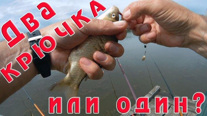 Удочка с двумя крючками уловистей чем удочка с одним крючком Встреча с инспектором Рыбнадзора
