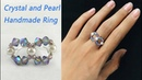 DIY Beading Crystal Pearl Ring: Handmade Wire and Beading Ring
