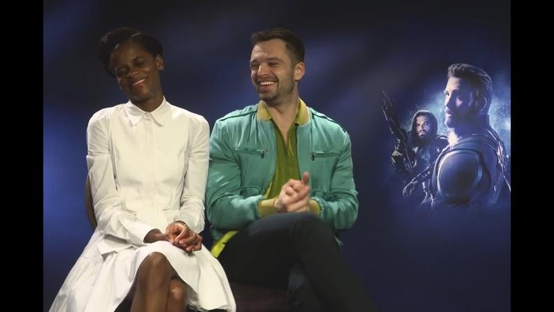 Себастиан Стэн и Летиша Райт придумывают название Мстителям 4 и раскрывают свои секреты красоты