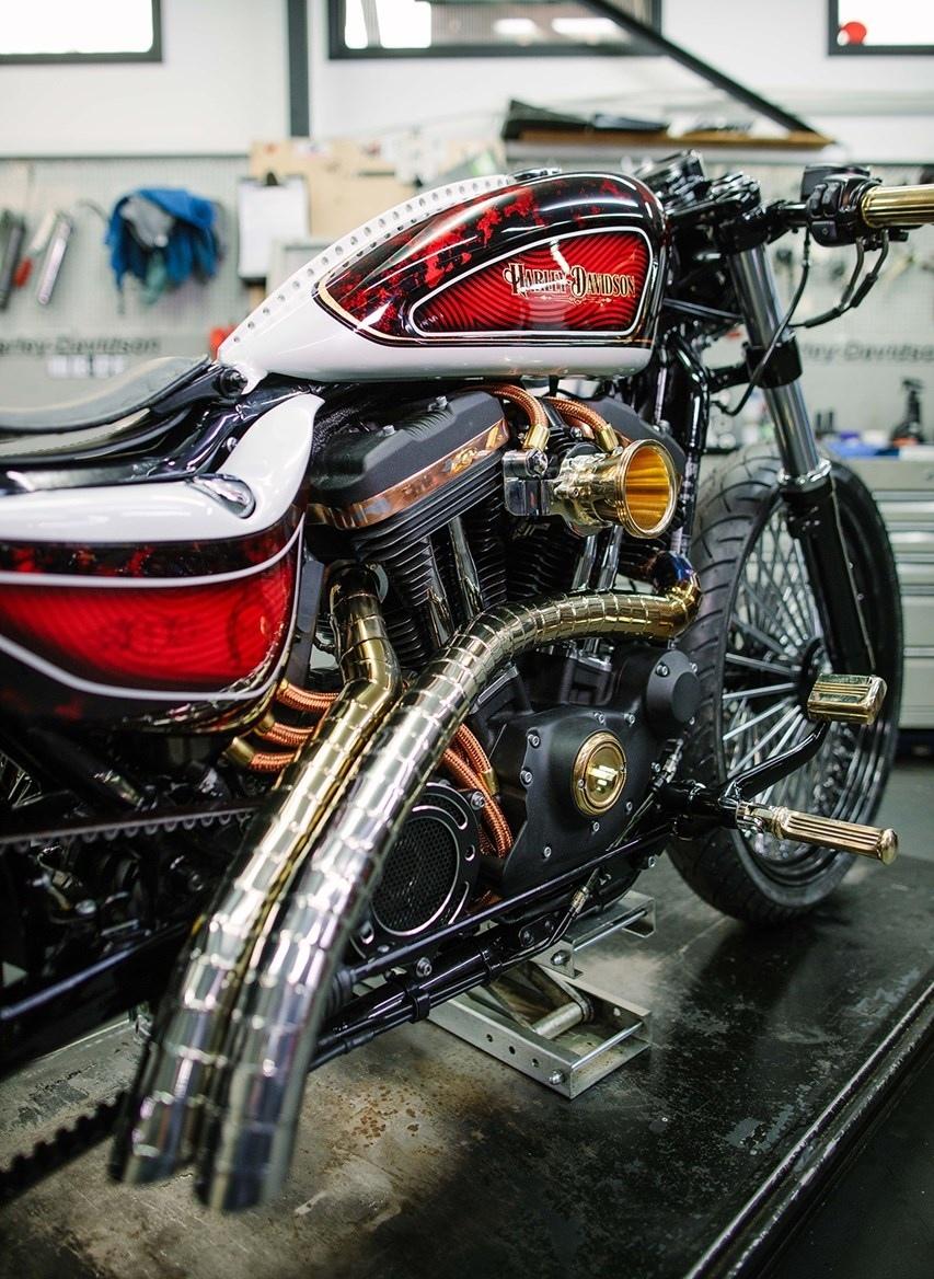 Чоппер Warr's Crook взял 1-е место в британском конкурсе Harley Battle of the Kings