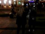 Уличная группа. Ночное выступление на Невском проспекте.Сентябрь 2018