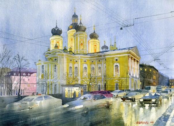 Гжегож Врубель живет и работает в Варшаве, акварелью начал рисовать в возрасте 12 лет. В настоящее время он дизайнер, акварелист, архитектор, начинающий музыкант и композитор.Свои акварели он