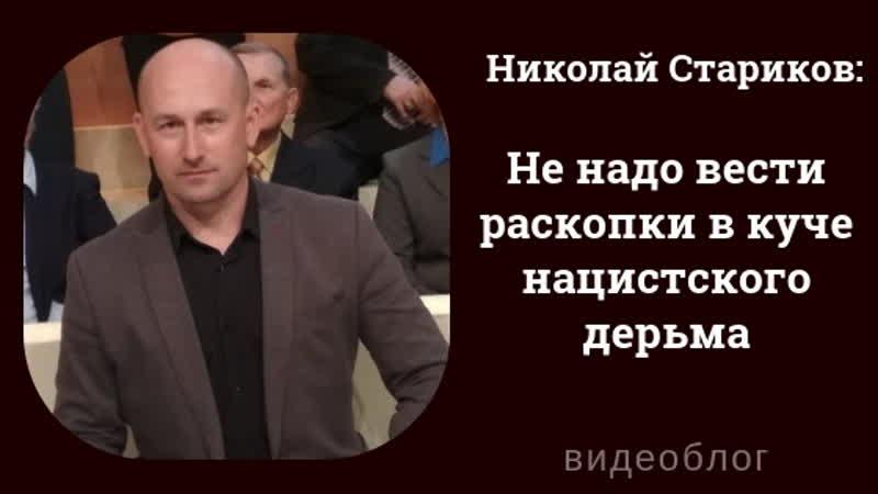 Николай Стариков Не надо вести раскопки в куче нацистского дерьма