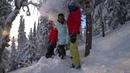 Девушки на сноуборде На Белом Покрывале Января