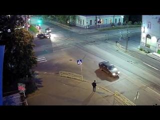 Жёсткое ДТП на улице Правды.