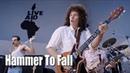 Hammer To Fall Live Aid Bohemian Rhapsody Movie Queen Biopic Rami Malek Gwilym Lee Joe Mazzello