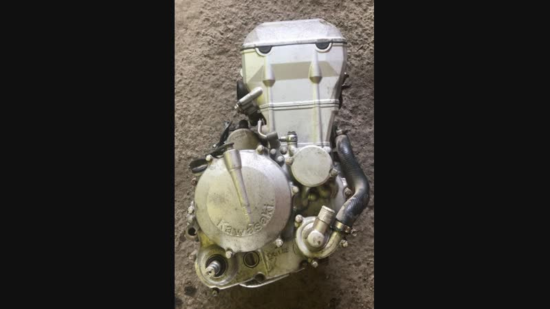Проверка контрактного двигателя Kawasaki KLX250 D-tracker (LX250DE) перед отправкой клиенту | motod.ru