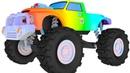 Мультики для детей Веселые Тачки Монстр Трак Большая Скорость Гонки Цветные машинки для мальчиков