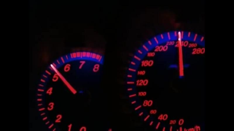 Разгон от 80 кмч до 290 кмч с 3-й передачи.
