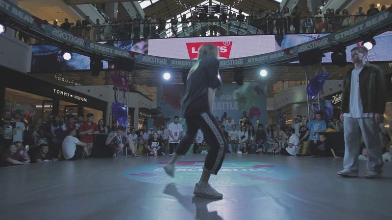 Street Beat 2018 Hip Hop 1\ 4 Final Bazzombia vs Dam'en(Win)   Danceproject.info