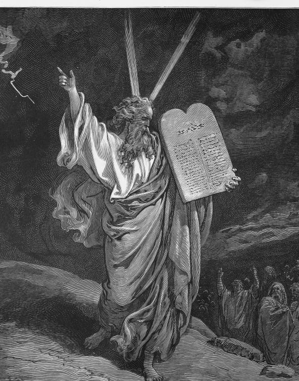 Десять заповедей являются примерами того, как некоторые естественные права были приняты в закон для защиты жизни и свободы.
