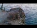 Скалы Чёрное море суда на рейде Новороссийского порта на закате 2015 г