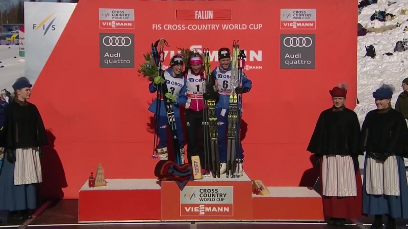 Heidi Weng clinches Overall globe as Marit Bjoergen wins pursuit in Falun - Highlights