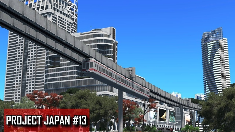 Cities: Skylines - PROJECT JAPAN 13 - Suspended monorail, Convention center, Mixed residential